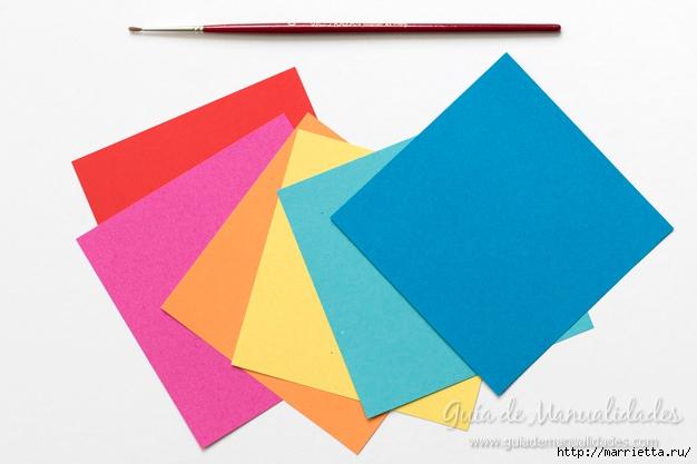 Нежные розочки из бумаги в технике оригами (2) (626x417, 130Kb)