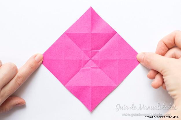 Нежные розочки из бумаги в технике оригами (6) (626x417, 119Kb)