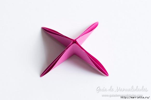 Нежные розочки из бумаги в технике оригами (8) (626x417, 66Kb)