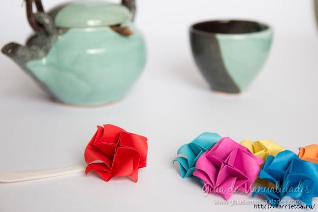 Нежные розочки из бумаги в технике оригами (14) (626x417, 109Kb)