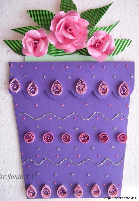 Скрапбукинг. Розы из бумаги (2) (483x700, 301Kb)