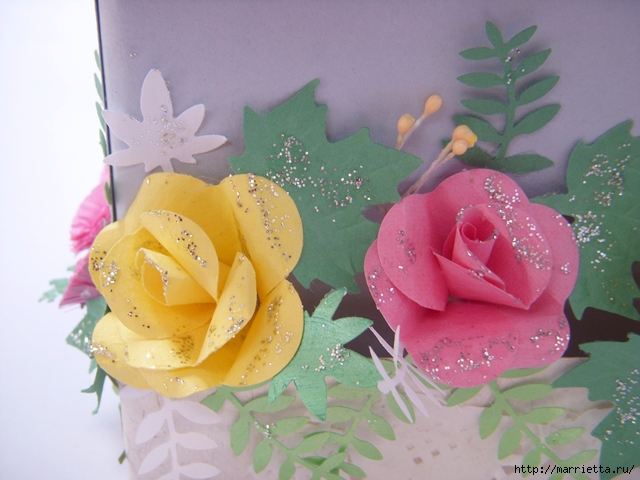 Скрапбукинг. Розы из бумаги (11) (640x480, 222Kb)