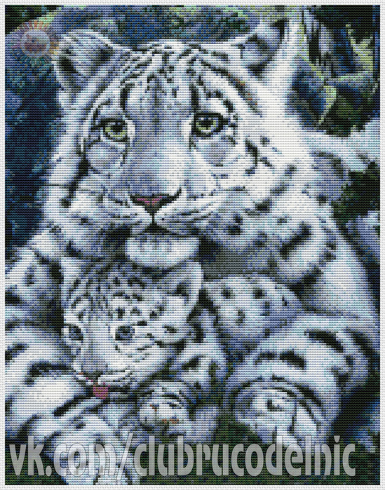White Tigress and Cub (549x700, 312Kb)