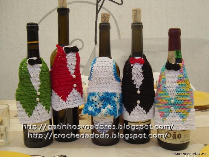 Жилетка крючком - одежка для бутылки (3) (700x525, 300Kb)
