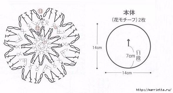 Круглая сумочка крючком. Схема (7) (589x317, 113Kb)