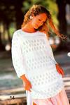 Белый Ажурный Пуловер Доставка