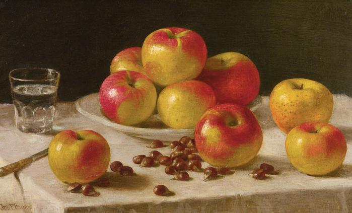 Sml. John F. Francis, Apples on a Table (700x423, 353Kb)
