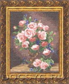 схема вышивки Розы и фиалки (235x287, 99Kb)