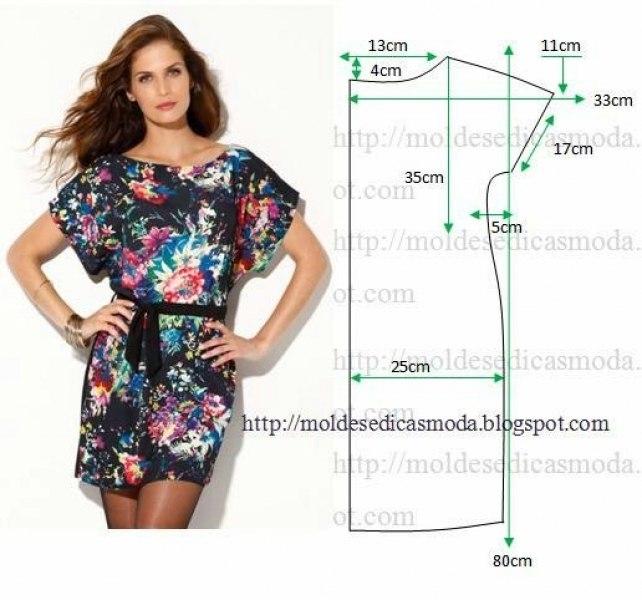 Сшить летнее простое платье