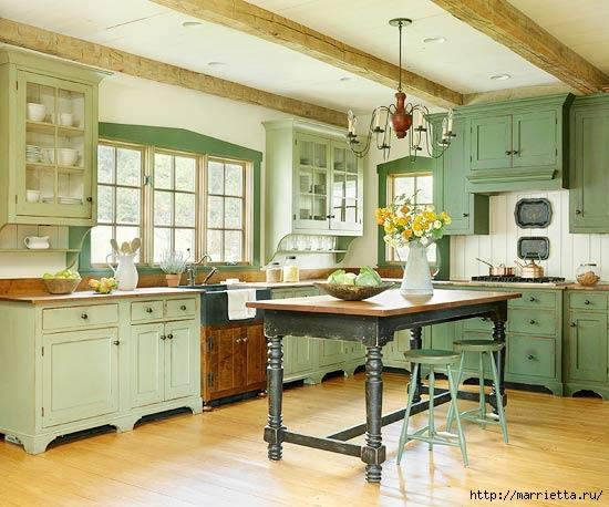 Как правильно оформить кухню в зеленых тонах (6) (550x458, 161Kb)