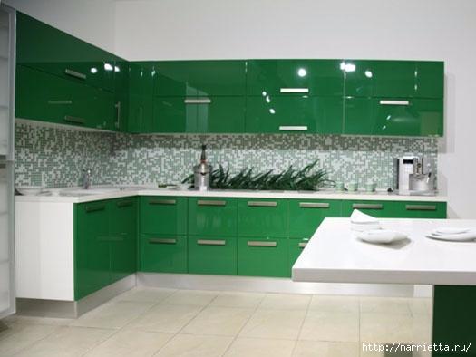 Как правильно оформить кухню в зеленых тонах (12) (525x394, 92Kb)
