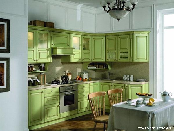 Как правильно оформить кухню в зеленых тонах (14) (600x450, 150Kb)