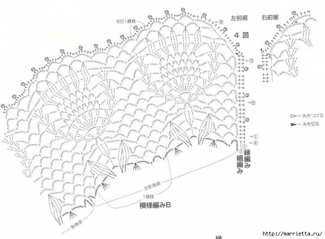 Ажурная летняя блуза крючком (1) (655x483, 163Kb)