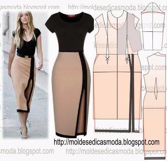 Сшить юбку из трикотажного платья 19