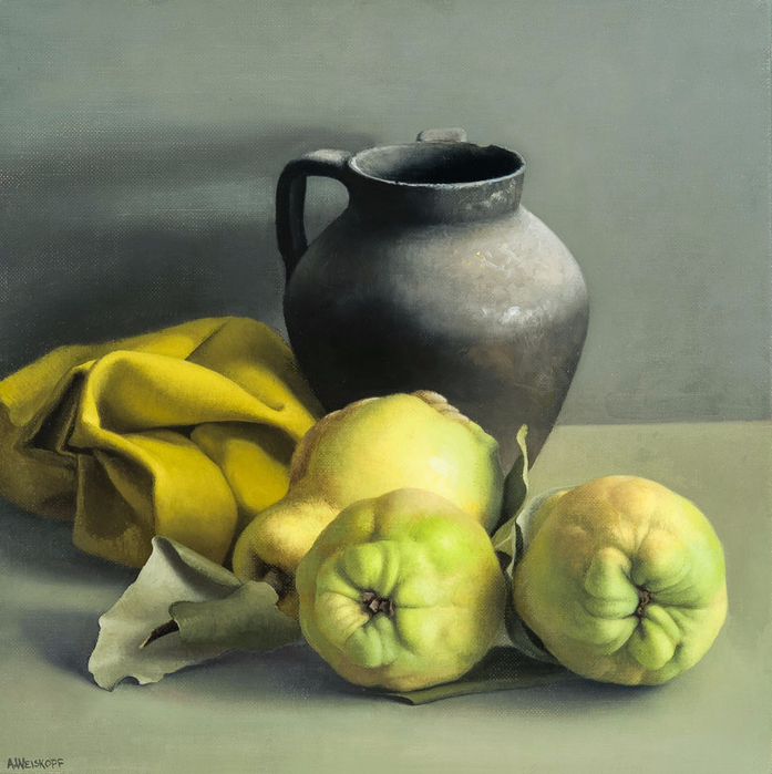amy-weiskopf-still-life-with-quinces-and-black-vase (697x700, 397Kb)