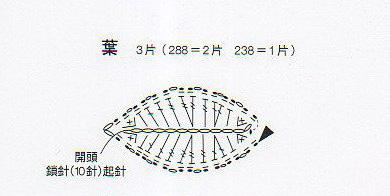 Розочка крючком. Схема (4) (390x196, 73Kb)