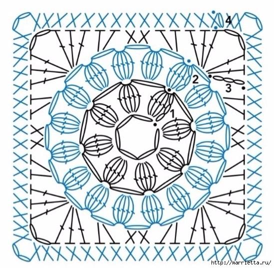 Цветочная сумочка-авоська крючком (2) (548x537, 251Kb)