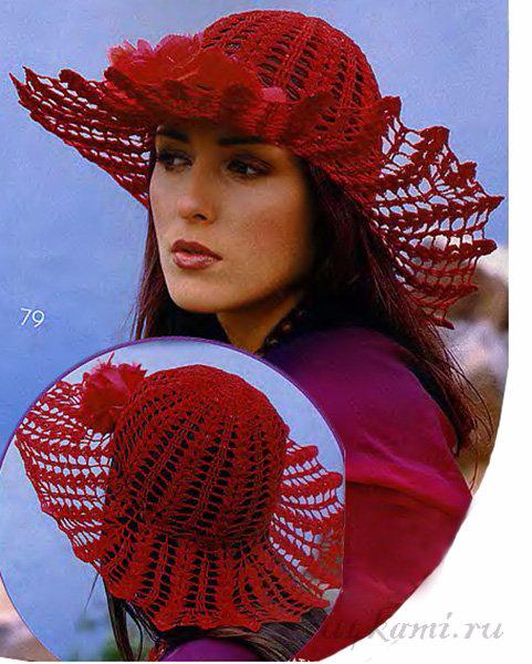 шляпа крючком схема - Самое