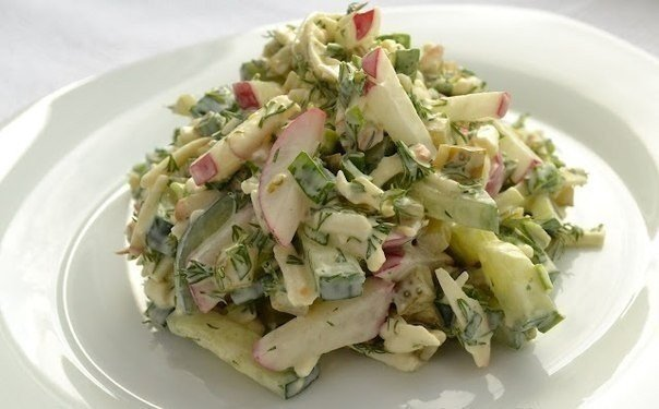Сырный салат с редиской (604x375, 42Kb)