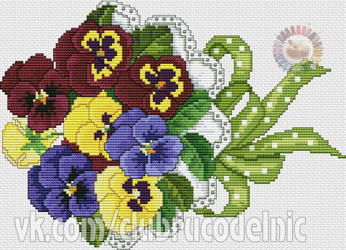 Pansy Bouquet (700x504, 499Kb)