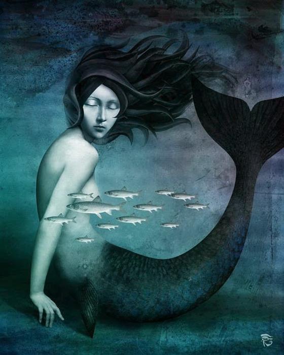 Mermaid  by Christian Schloe  sereia (560x700, 342Kb)