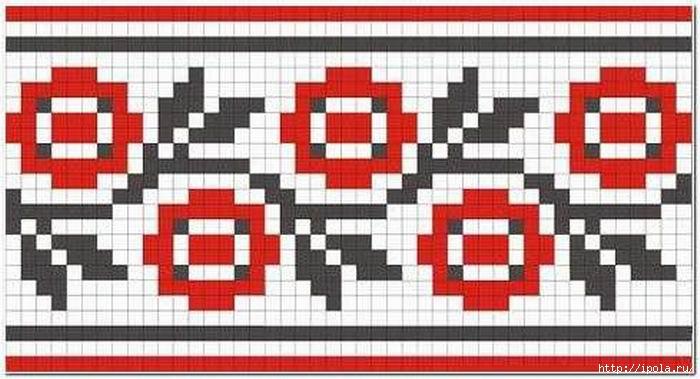 Узоры для вышивки крестиком украинские узоры