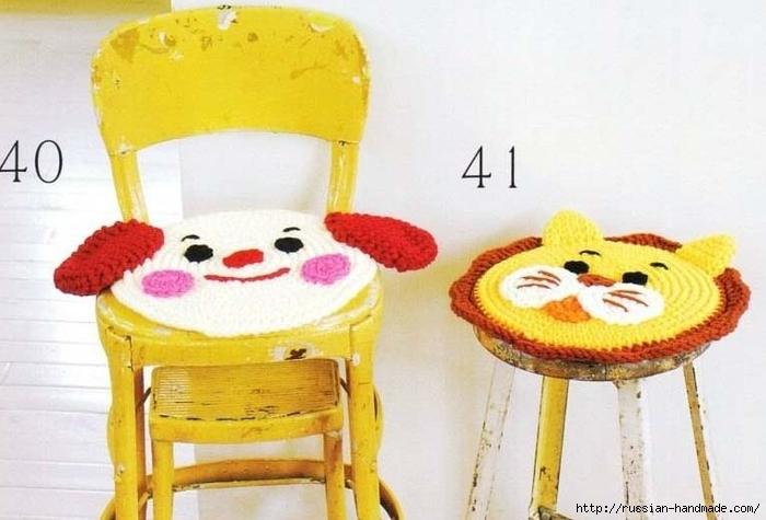 Веселые сидушки крючком для детских стульчиков (5) (700x475, 202Kb)