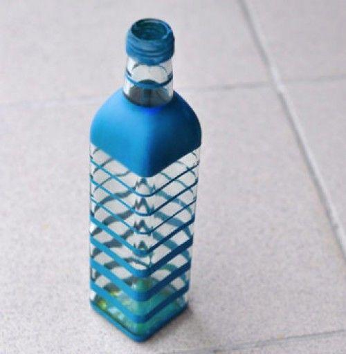 Декоративная бутылка - вазочка для цветов своими руками (5) (500x512, 130Kb)