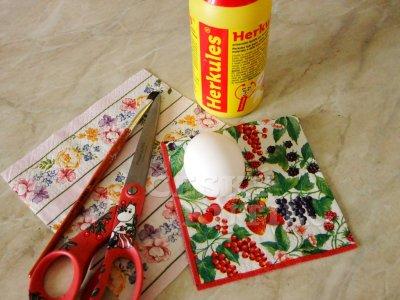 Декупаж салфетками. Пасхальные яйца (1) (400x300, 131Kb)