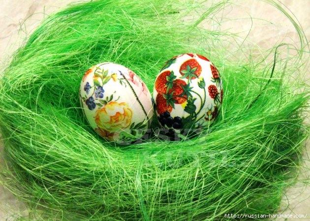 Декупаж салфетками. Пасхальные яйца (7) (630x450, 254Kb)
