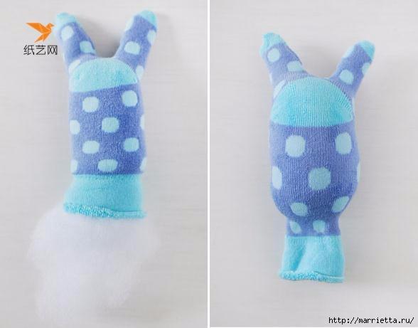 Забавные кролики из носков. Мастер-класс (7) (588x461, 80Kb)