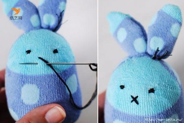Забавные кролики из носков. Мастер-класс (14) (593x397, 152Kb)