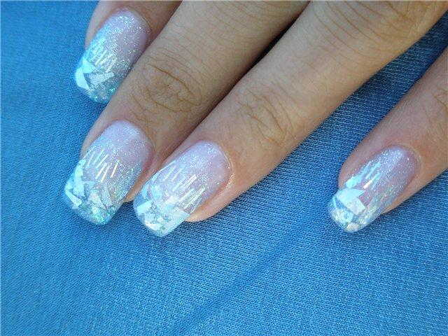 Фото ногти с прозрачным лаком