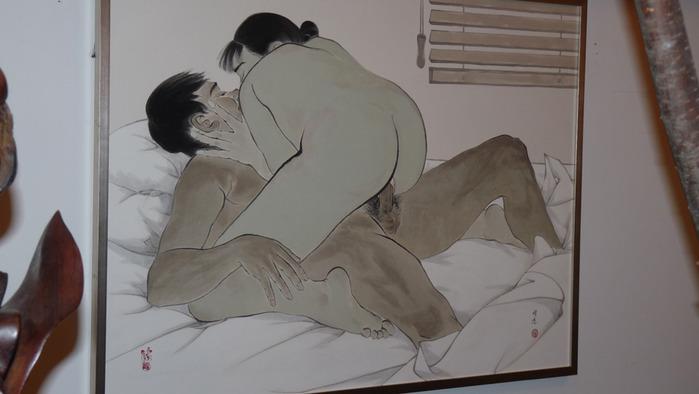 36.Иллюстрация к книге Камасутра. . Картина называется С