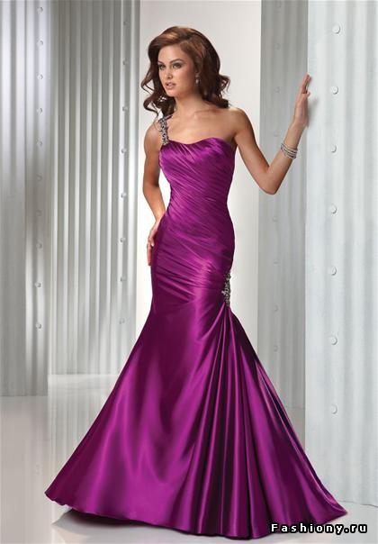Драпировки вечерних платьев