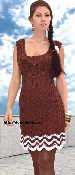 вязаное-платье-спицами (301x700, 38Kb)
