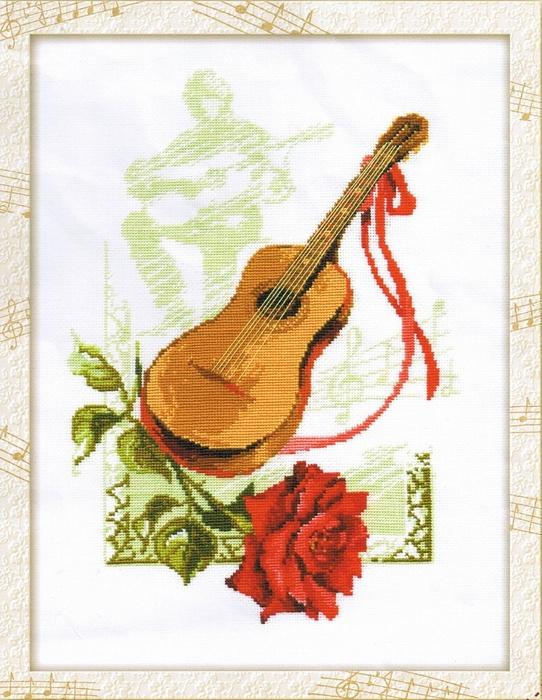 В набор входит шерстяное мулине Риолис (17 цветов),канва х/б (Белоруссия, 60 кл на 10 см) белого цвета, цветная схема...