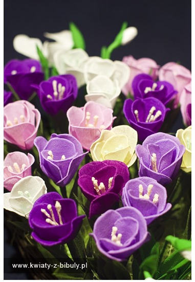 online flowers: crocus made of paper