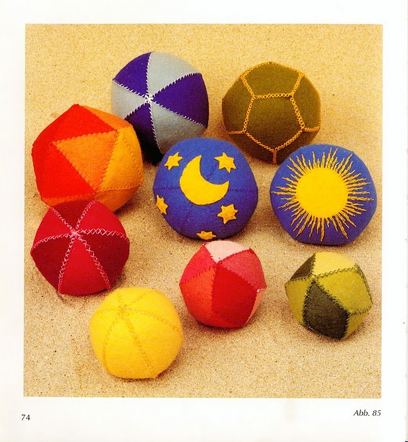 Мягкий мяч для малышей своими руками 17