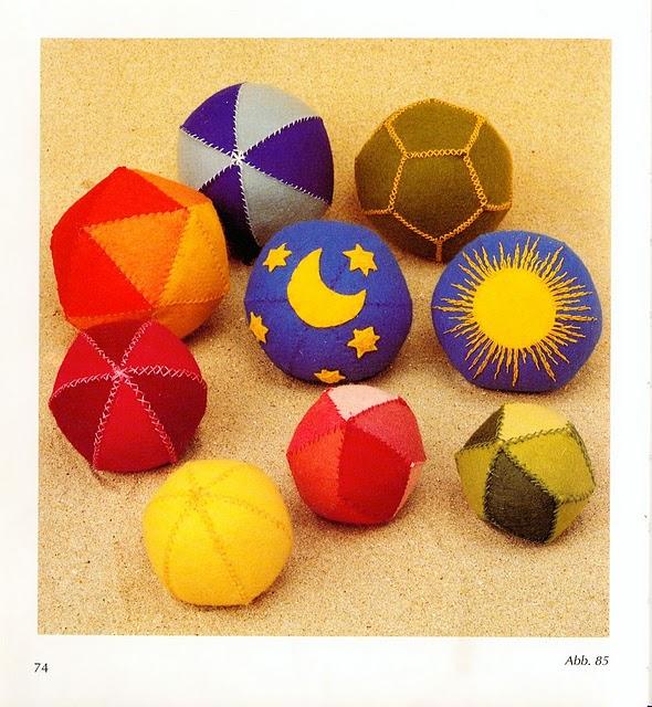 Мячики для детей своими руками