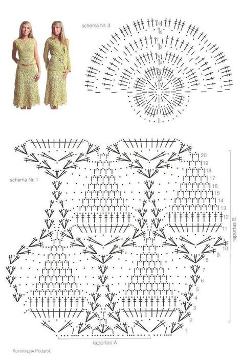 Платья кофты крючком схемы
