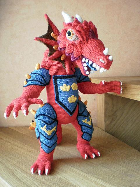 Этапы вязания Дракона
