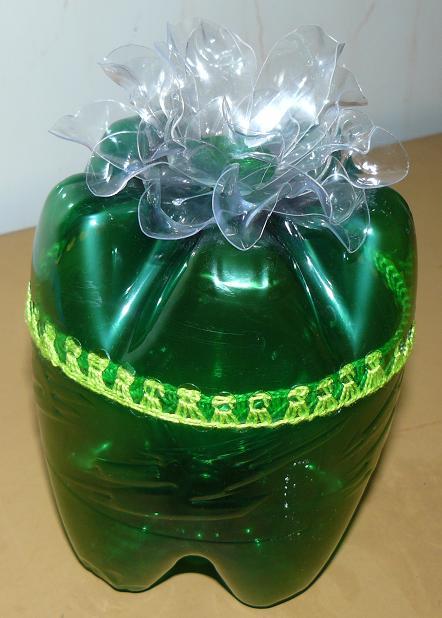 Поделка из бутылок шкатулка