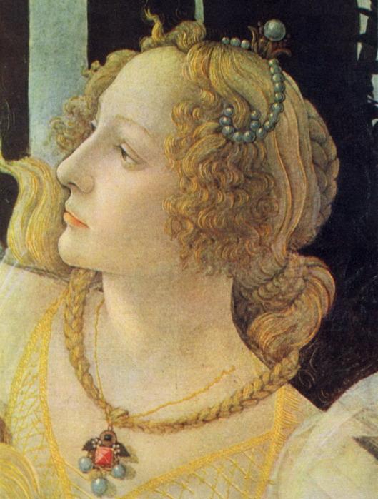 Сандро Боттичелли - Голова Грации.  Деталь картины 'Весна' .