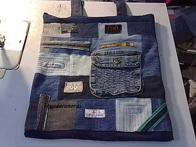 из джинс сшить сумку мк.