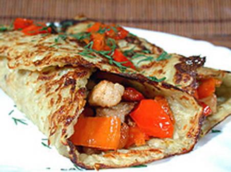 Картофельные блины с мясной начинкой