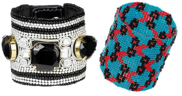 В 2011 году широкие браслеты из бисера в различных цветовых сочетаниях особенно модны! польская одежда...