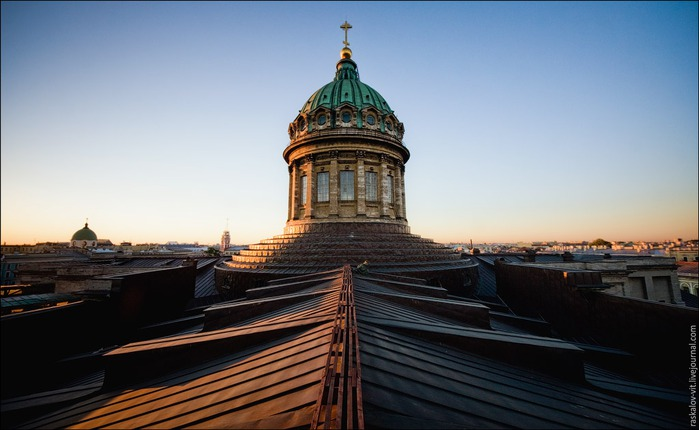 питер, крыши петербурга