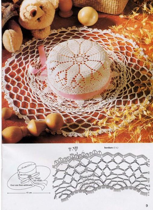 Ажурное вязание шляпки крючком 943