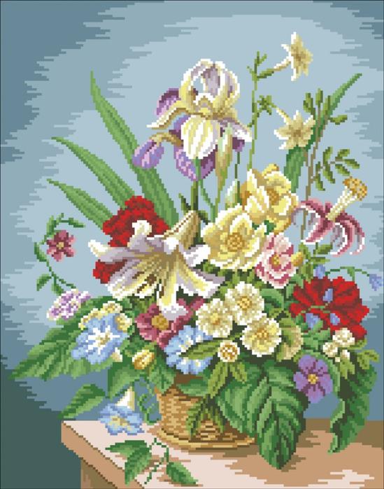 Схемы - 2 букета. букет цветов